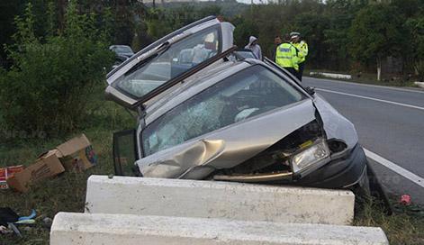 Tânăr de 19 ani, din Găleteni, rănit într-un accident rutier. Șoferul a fugit de la locul faptei