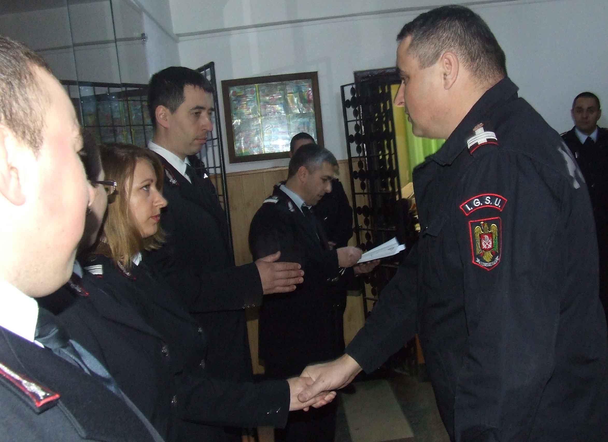 Patru pompieri din Teleorman au depus Jurământul de Credință