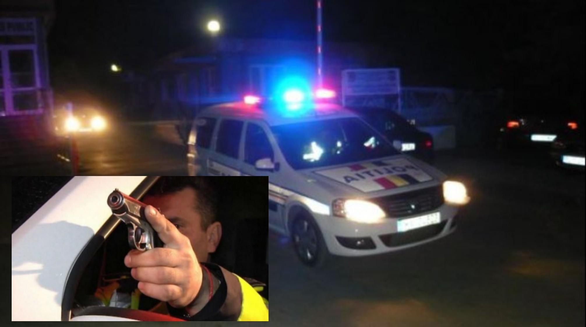 Urmărire ca-n filme! Șofer de microbuz, oprit cu focuri de armă! Bărbatul din Siliștea a devenit violent la vederea polițiștilor