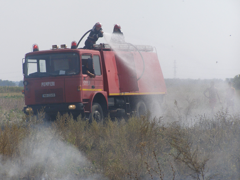 Incendiu de vegetaţie, din cauza unei ţigări aruncate la întâmplare