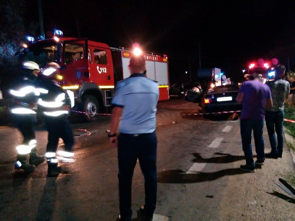 Accident grav la Lăceni. Conducătorul auto a fost transferat la Spitalul Bagdasar din București