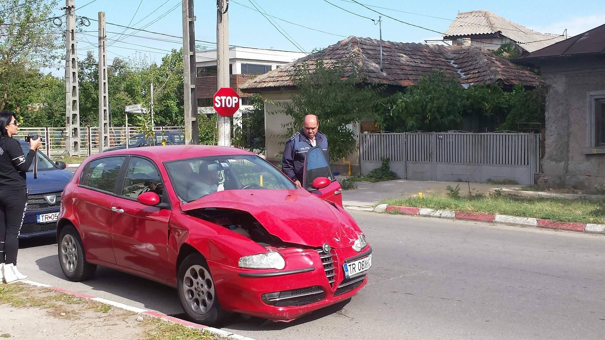 Comisarul Sandu Petre, şeful Poliţiei Rutiere Teleorman, implicat într-un accident de circulaţie