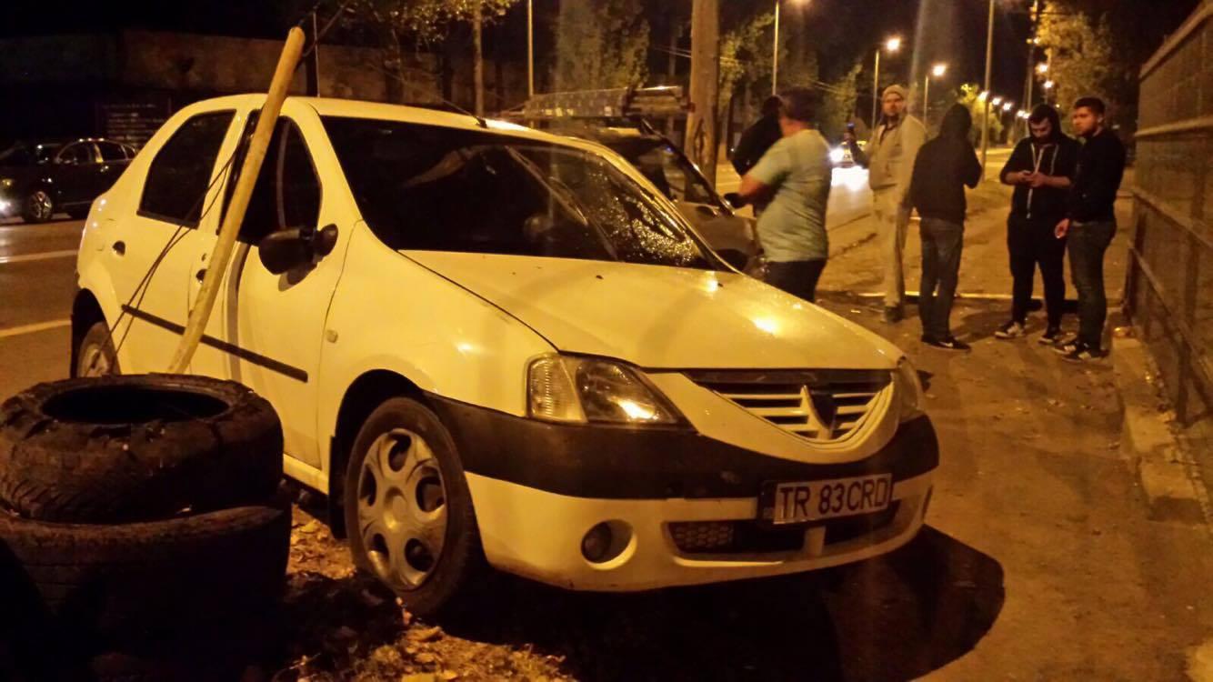 """Accident în Alexandria. Radarul """"civil"""" al poliţiei (TR 83 CRD) a fost făcut praf!"""