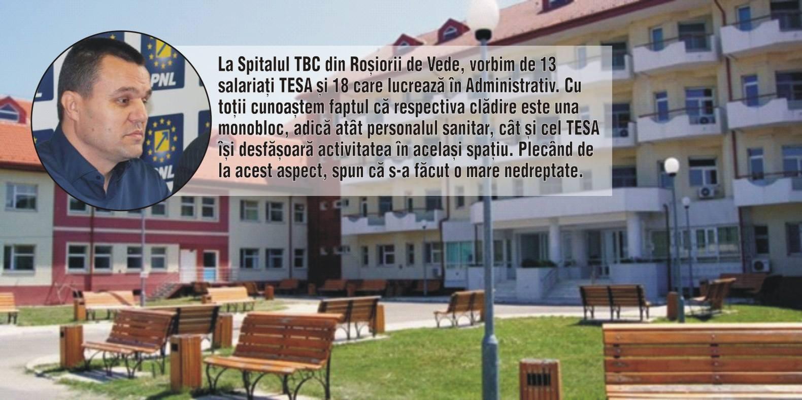 """Senator Eugen Pîrvulescu:""""Personalului TESA din Spitalul TBC Roșiori i s-a făcut o mare nedreptate, prin eliminarea sporului pentru condiții periculoase"""""""