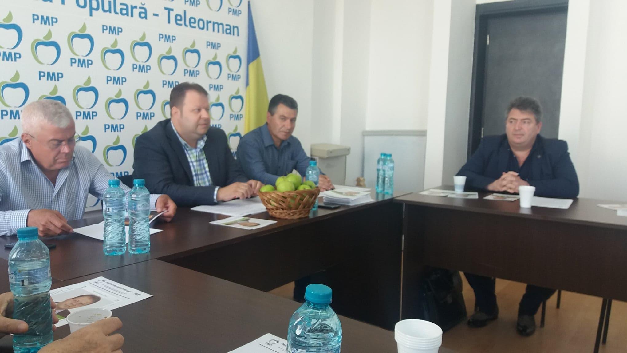 """Președintele Adrian Florescu: PMP va demara campania """"Alegem primarul în două tururi"""""""