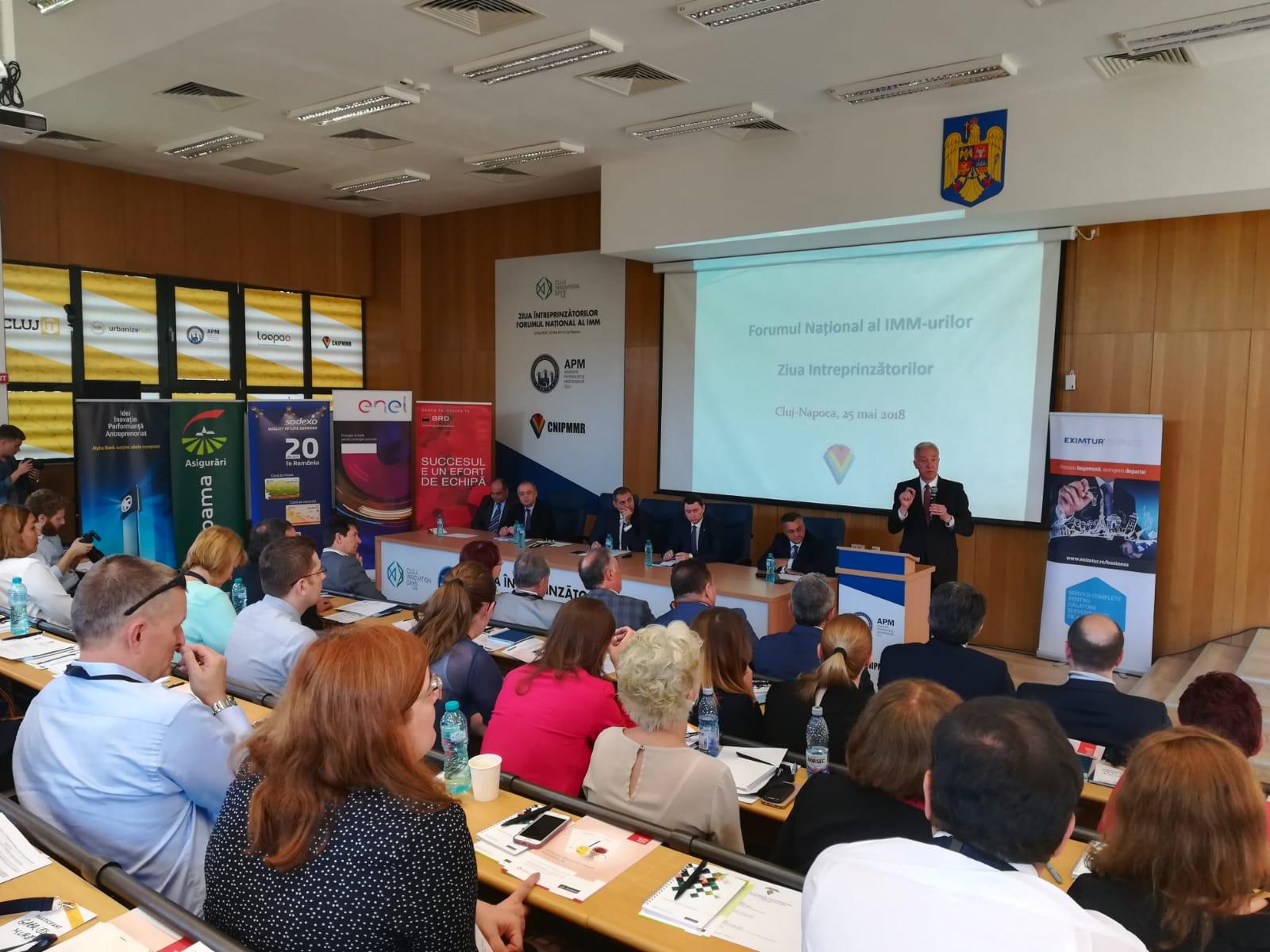 """Consiliul Naţional al IMM-urilor din România a organizat cea de-a XXVI-a ediţie a """"Forumului Național al IMM-urilor"""" și a """"Zilei Întreprinzătorilor"""""""
