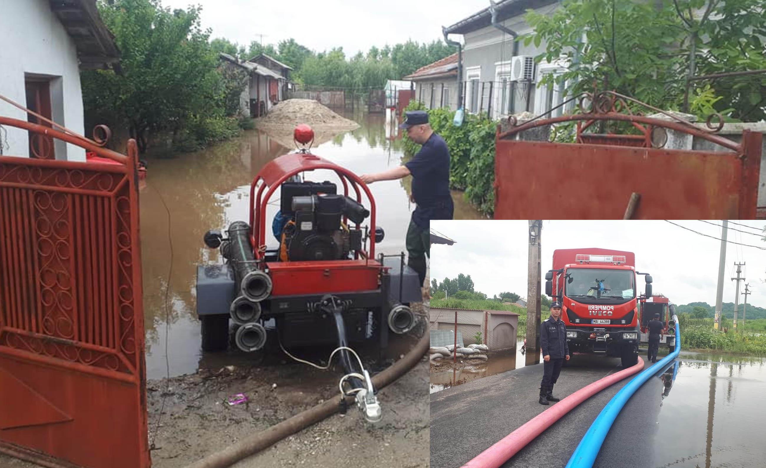 """Bilanţul ploilor din ultimele zile. ISU Teleorman: """"În majoritatea localităților afectate situația a revenit la normal"""""""