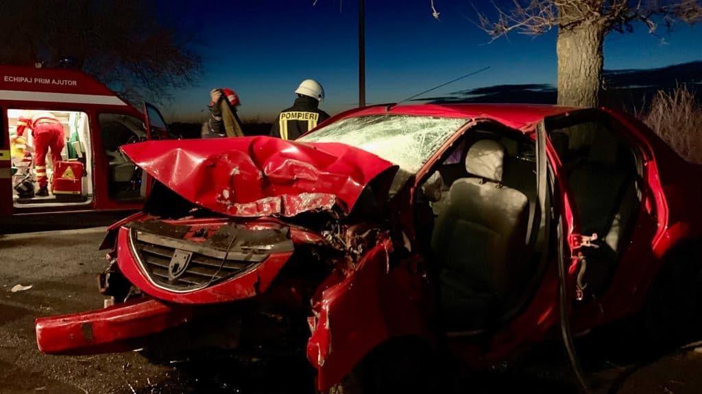 Tragedie, în ziua de Crăciun. Doi tineri au murit, într-un cumplit accident de circulație, pe șoseaua Alexandria-Furculești