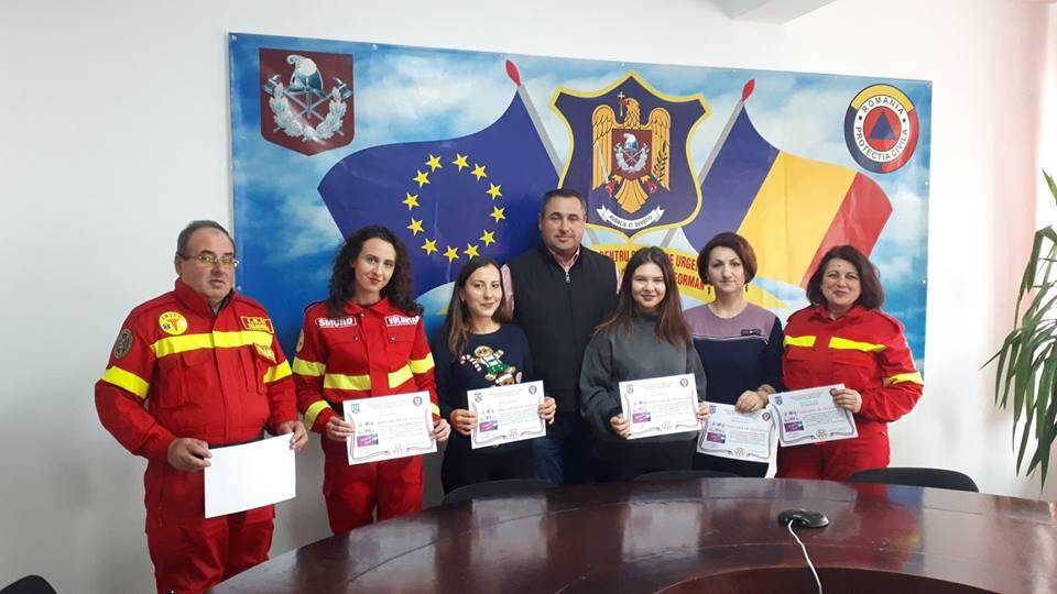 """Voluntarii ISU Teleorman au primit """"Diplomă de Excelență"""", în semn de prețuire pentru activitatea depusă"""