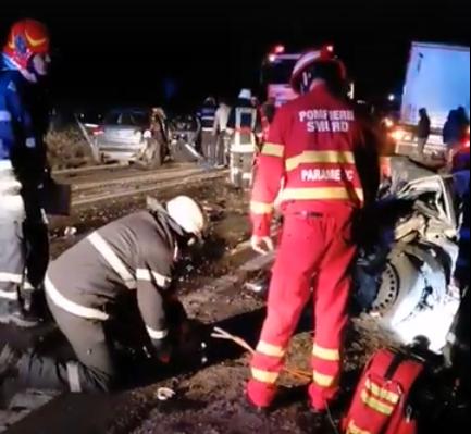 Accident mortal, pe E70, între Văceni și Dragănești. Două persoane, soț și soție, și-au pierdut viața