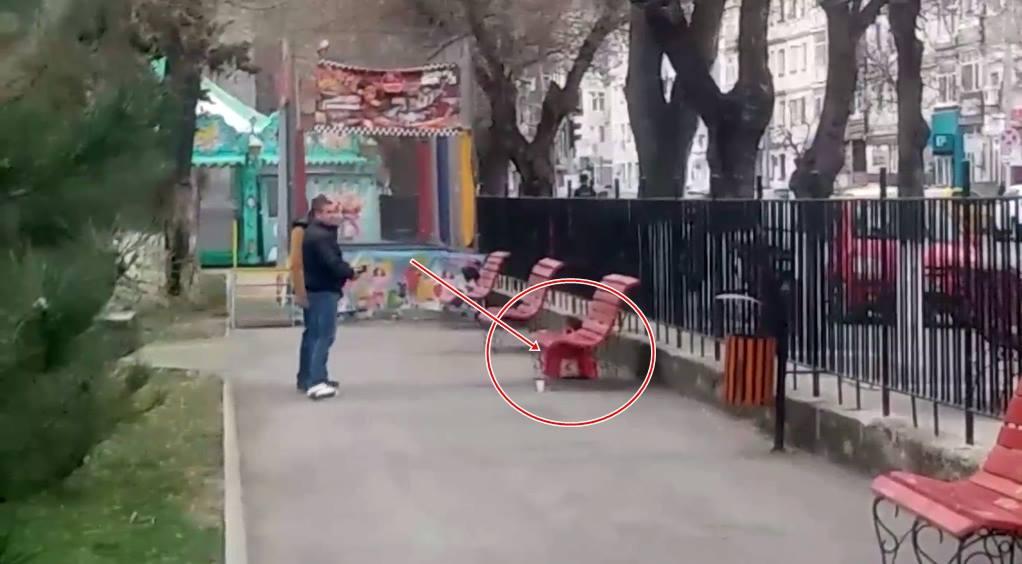 Pachet suspect în parcul din Alexandria. Brigada ANTITERO din cadrul SRI, polițiști și jandarmi au izolat perimetrul
