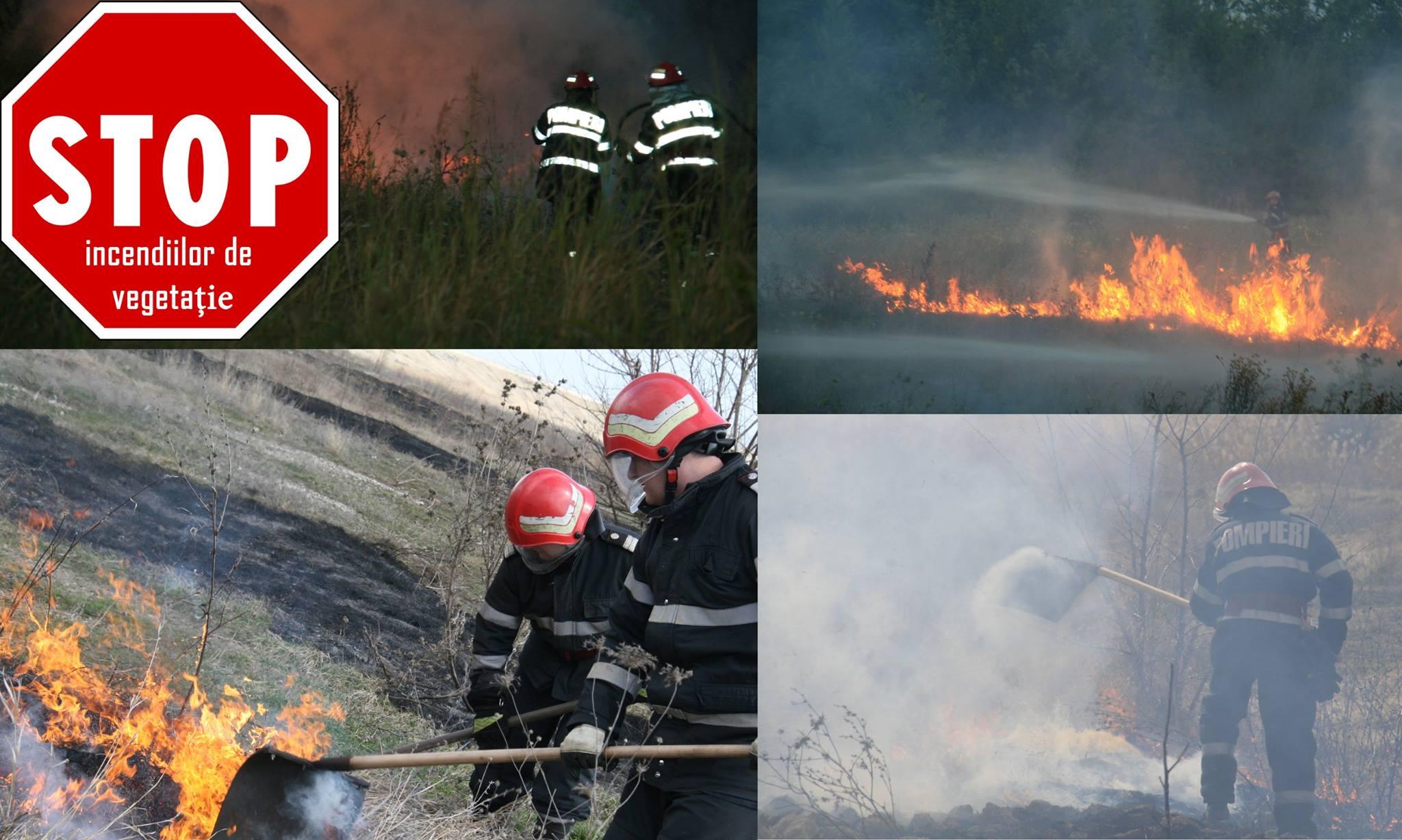 Numărul incendiilor de vegetaţie uscată creşte alarmant. Numai într-o singură zi, pompierii au intervenit de 13 ori