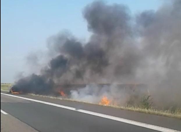 Comunicat de presă – IPJ Teleorman: Traficul rutier, îngreunat din cauza incendiilor de vegetație