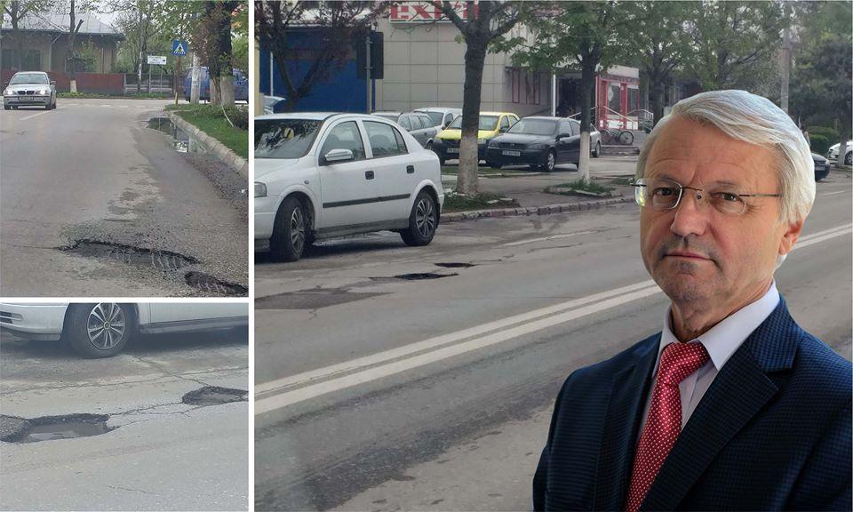 Roșiorenii merită mai mult! Șoferii își blesteamă zilele pe singura stradă principală din oraș