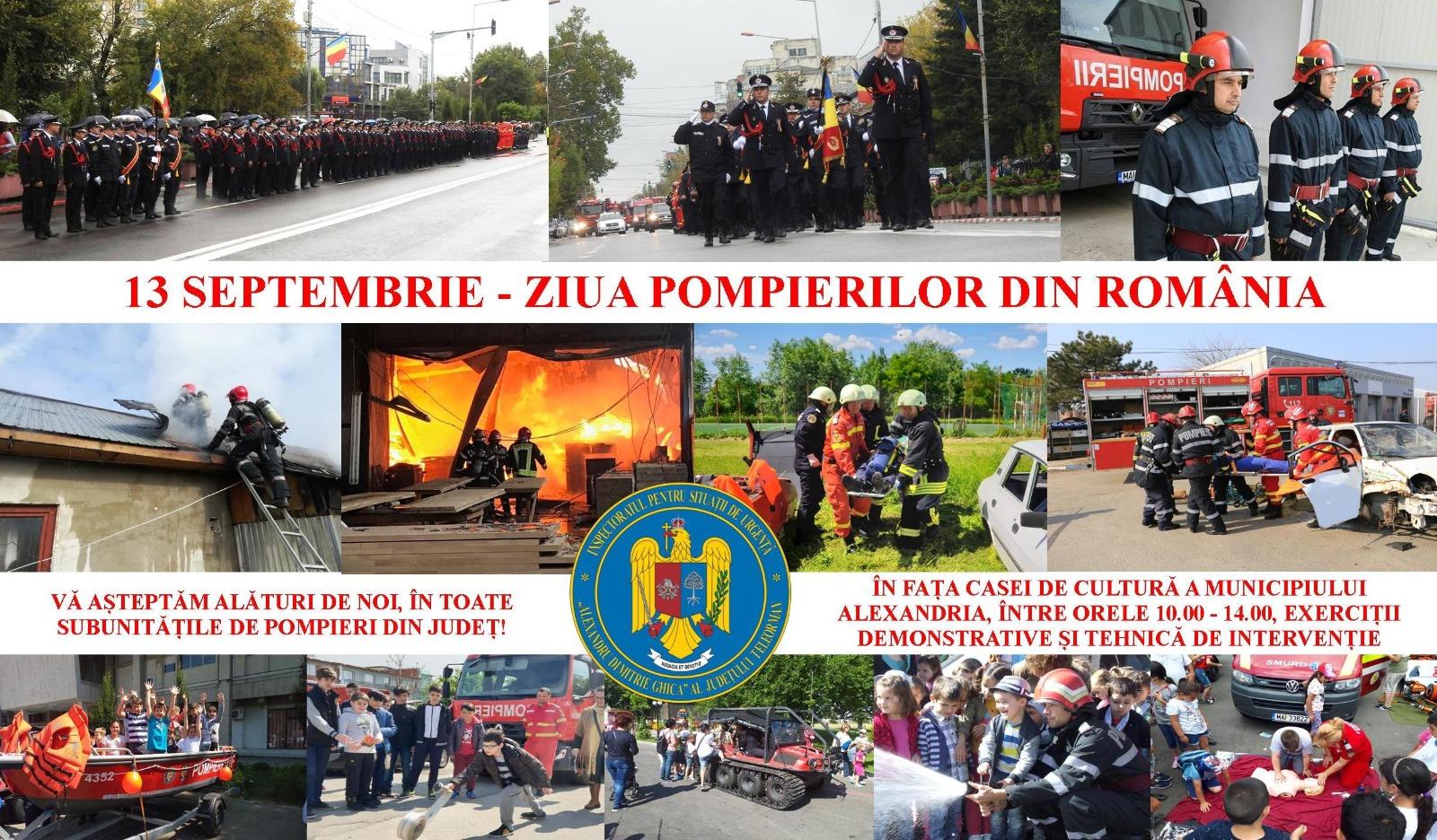 ISU Teleorman: Programul activităților dedicate sărbătoririi Zilei Pompierilor din România